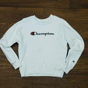 Vintage Champion Reverse Weave White Crewneck Med